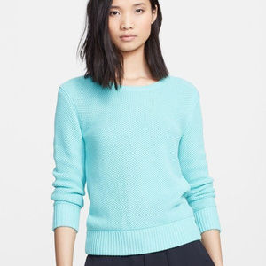 Rag & Bone Rita Waffle Knit Sweater In Light Aqua